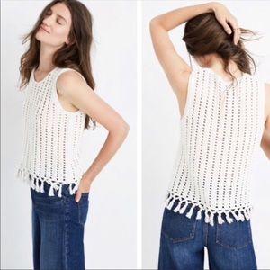 Madewell Crochet Tassel Tank